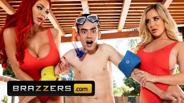 Brazzers – Sexy Rettungsschwimmer Nicolette Shea & Savannah Bond retten einen Schwanz