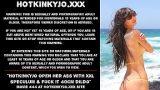 Hotkinkyjo öffnet ihren Arsch mit XXL Spekulum und fickt ihn 40cm tief mit Dildo