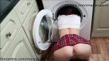 In der Waschmaschine CREAMPIE stecken und Hund gefickt